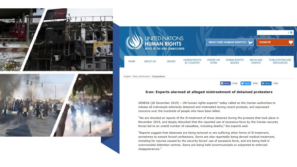 UN Experts Alarmed at Mistreatment of Detained Protestersin Iran