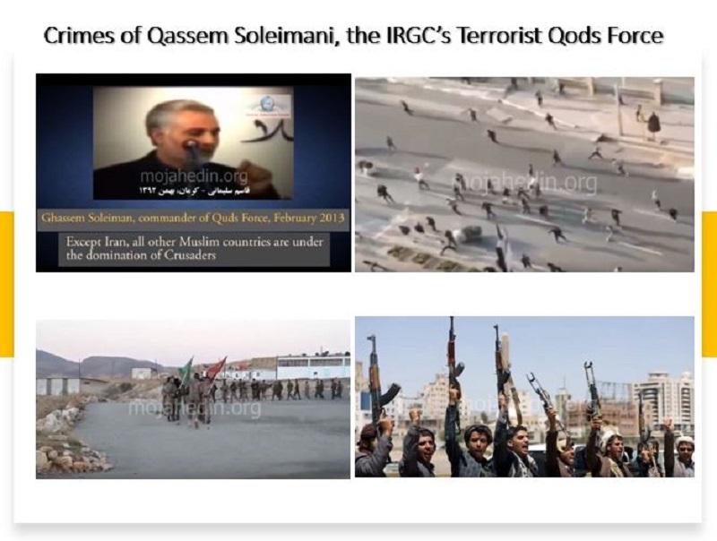 Crimes of Qassem Soleimani, the IRGC's Terrorist Qods Force