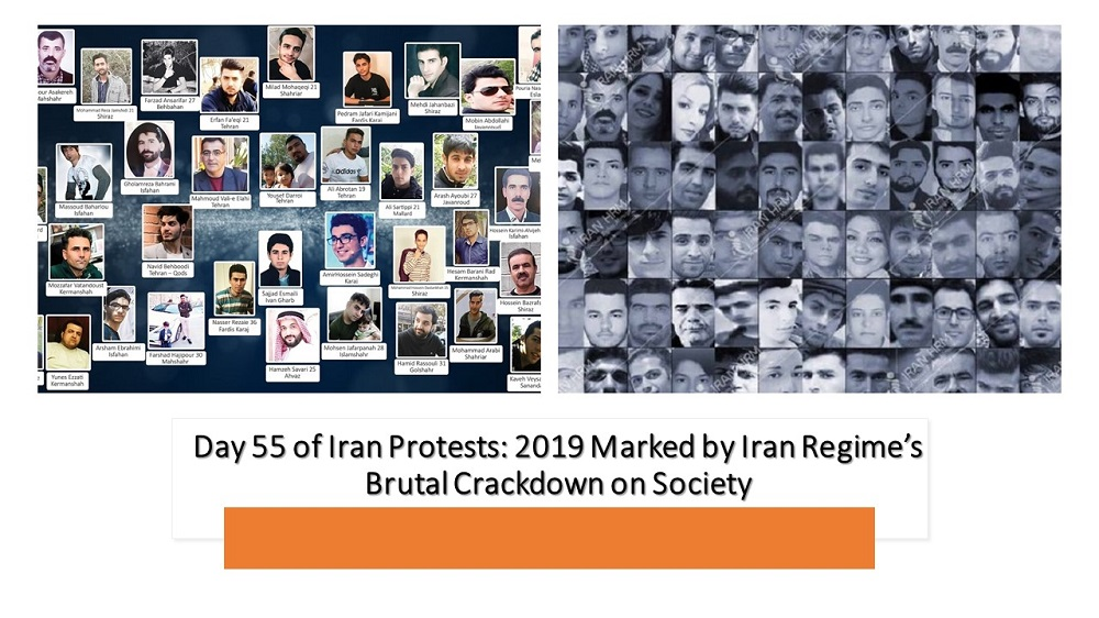 Day 55 of Iran Protests: 2019 Marked by Iran Regime's Brutal Crackdown on Society