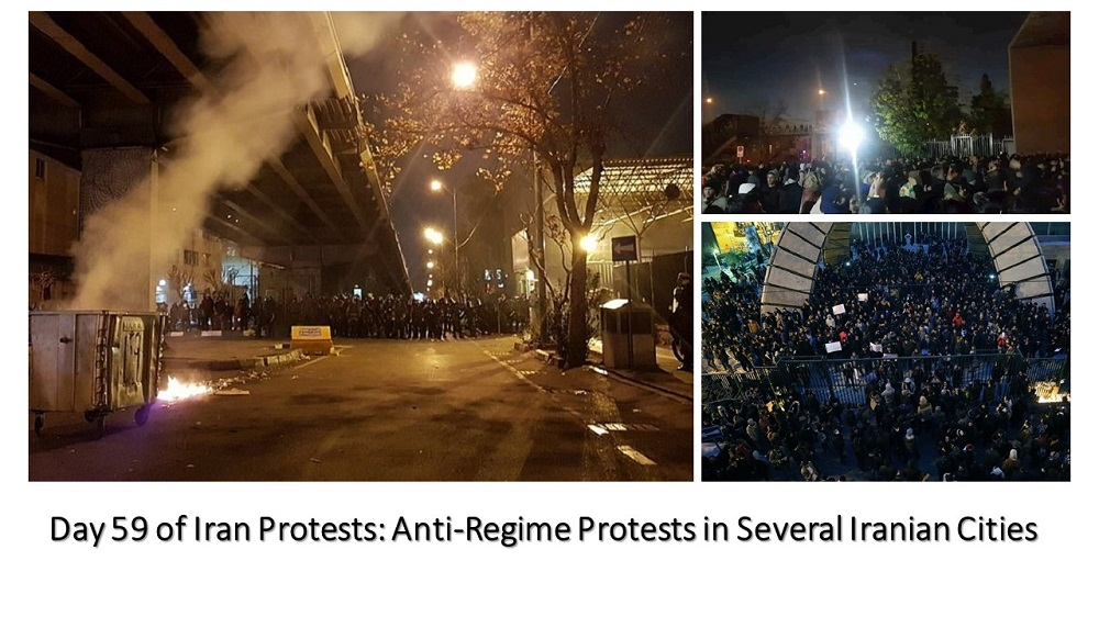 Day 59 of Iran Protests: Anti-Regime Protests in Several Iranian Cities