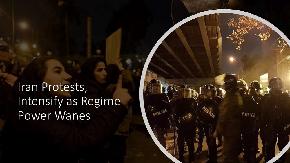 Iran Protests, Intensify as Regime Power Wanes