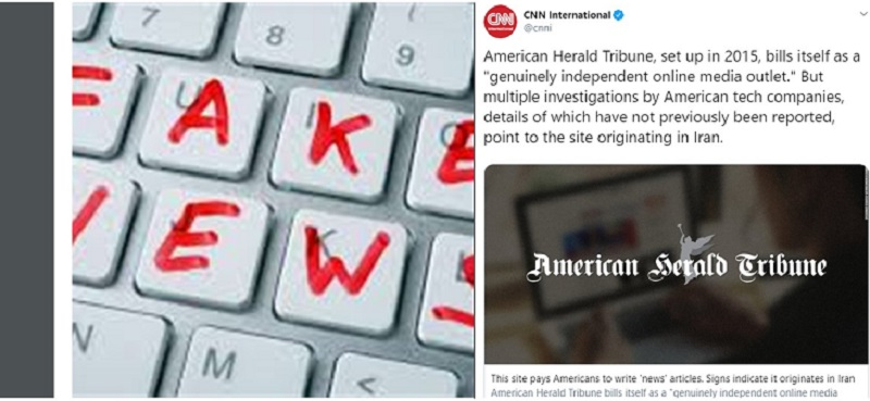 CNN: American Herald Tribune Is Run by Iran's Regime