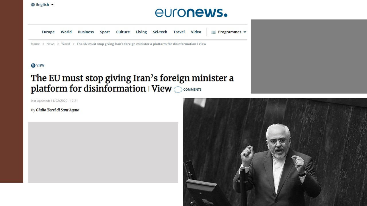 Giulio Terzi: EU Must Stop Giving Iran's Foreign Minister a Platform for Disinformation