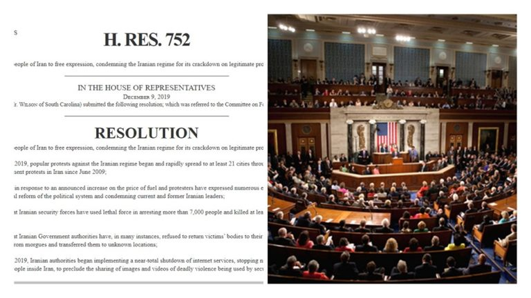 U.S. House of Representative Passes Resolution in Support of Iran Protests, Condemning the Regime