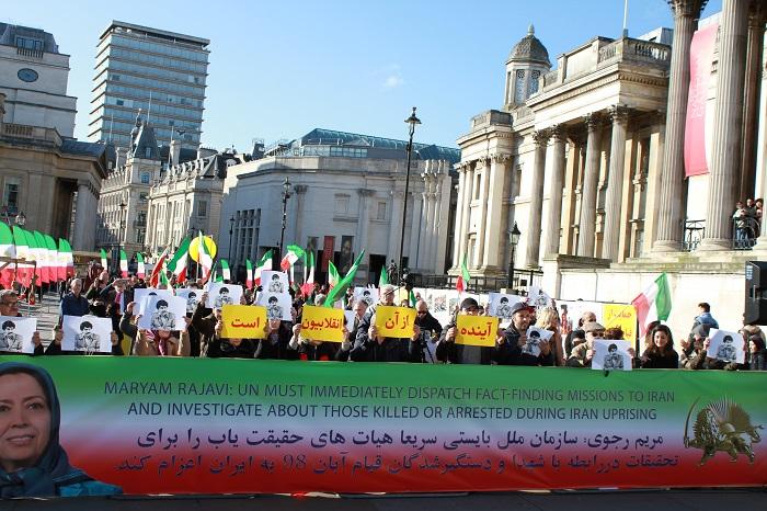 London Iranian demonstration