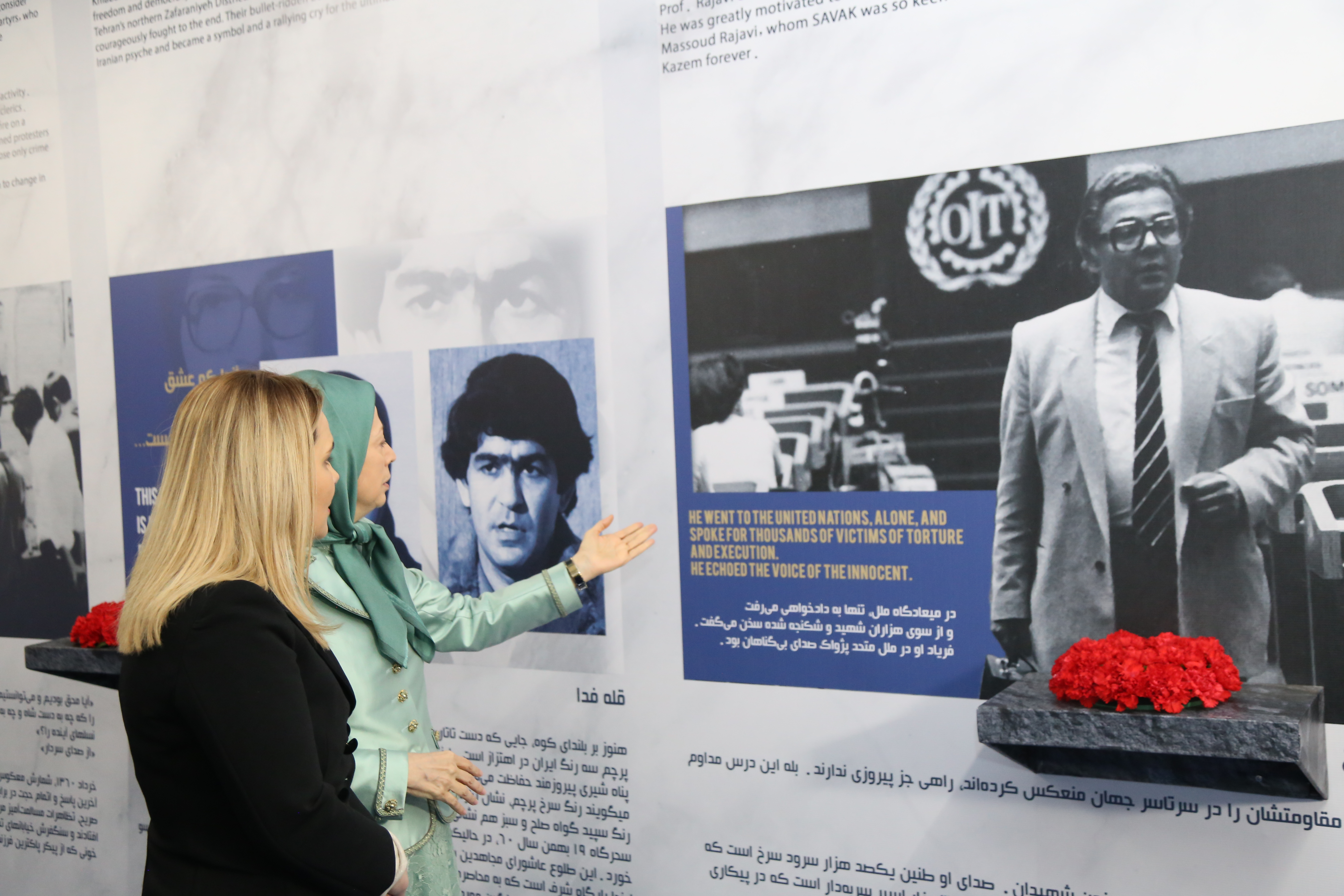 Ashraf-3, Albania, January 29, 2020 - Mrs. Monika Kryemadhi, Chairwoman of the Socialist Movement for Integration Party, and Mrs. Maryam Rajavi, the President-elect of the National Council of Resistance of Iran (NCRI), visiting the Museum of 120 Years of Struggle for Freedom in Iran at Ashraf-3, home to thousands of members of the main Iranian opposition group, the Mujahedin-e Khalq (MEK).