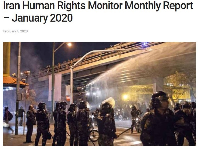 Monthly Report by Rights Group Confirms Iran's Regime Ongoing Human Rights Violation