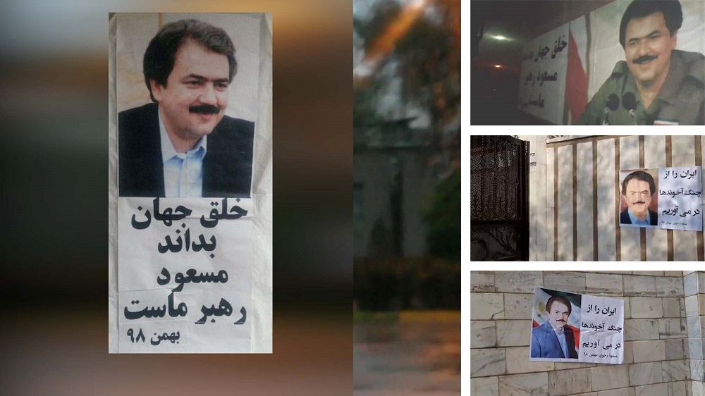Iran: Posting Messages, Pictures of Resistance's Leader in Tehran, Other Cities
