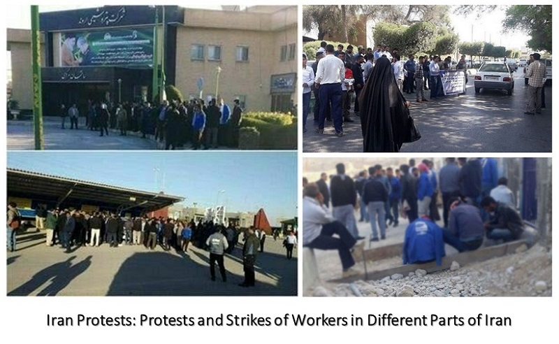Iran Protests: Protests and Strikes of Workers in Different Parts of Iran