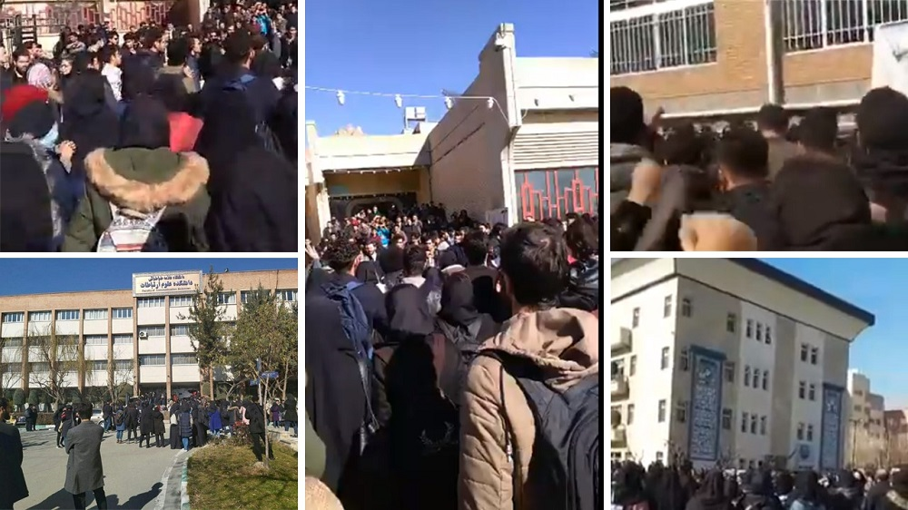 Students Stage Protests in Tehran, Isfahan
