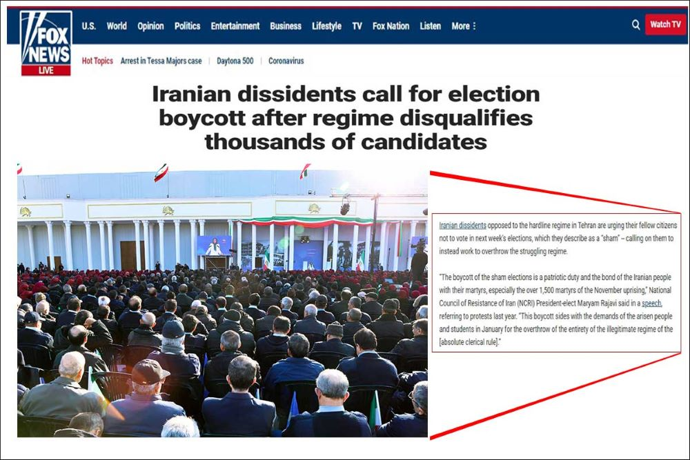 Iranian dissidents call for election boycott after regime disqualifies thousands of candidates