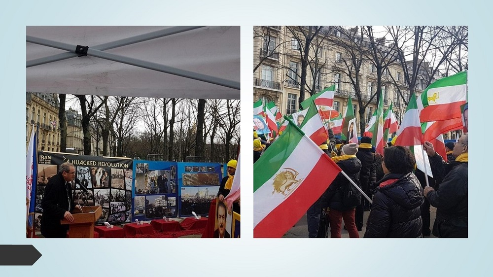 MEK and NCRI Supporters Hold Rally in France on the Anniversary of Anti-Monarchic Revolution