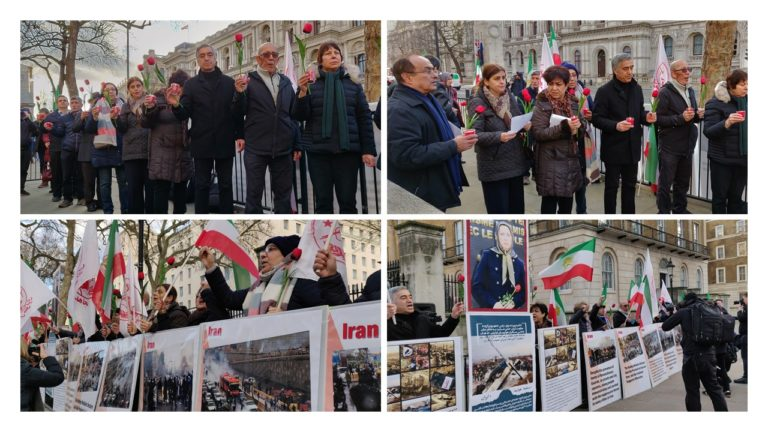 Anglo Iranians, MEK and NCRI Supporters Commemorate Airplane Crash Victims in London