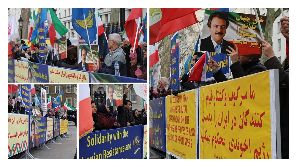Anglo Iranians, MEK and NCRI Supporters Hold Rally in