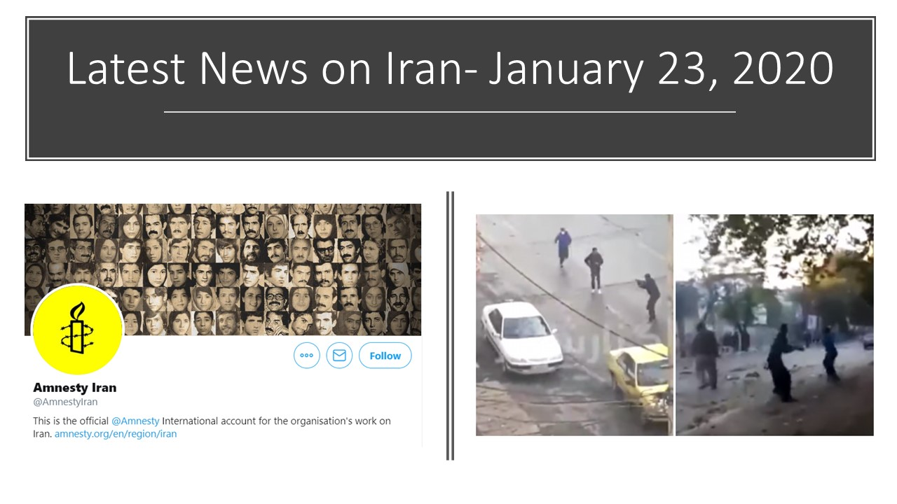 Latest News on Iran- January 23, 2020