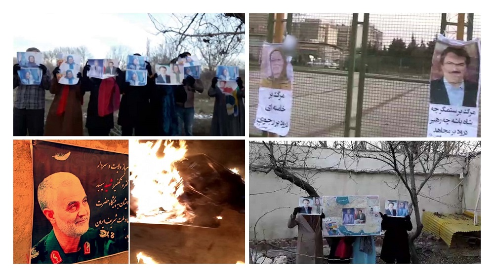 Iran: Posting Pictures of Resistance's Leadership, Torching Soleimani in Tehran, Other Cities