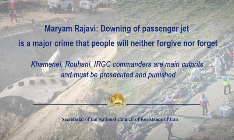 Maryam Rajavi: Downing of Passenger Jet Is a Major Crime That People Will Neither Forgive nor Forget