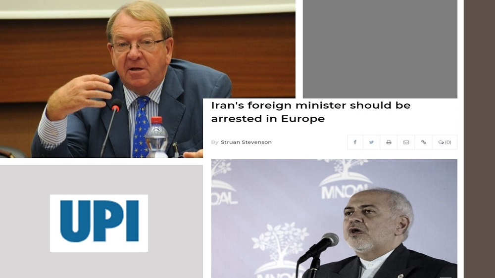 Mr. Stevenson's article on United Press International (UPI) on the necessity of arresting the Iranian Foreign Minister, Javad Zarif, for his involvement in terrorism.