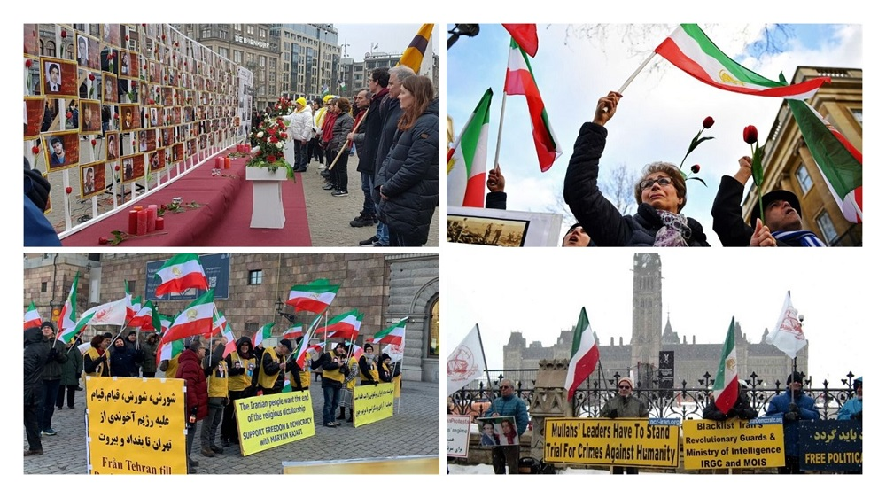 NCRI and MEK Supporters Organize Worldwide Protests in Solidarity With Iran Protests and Iraq Protests