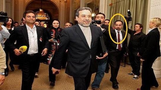 Images of Trita Parsi with senior Iranian delegation