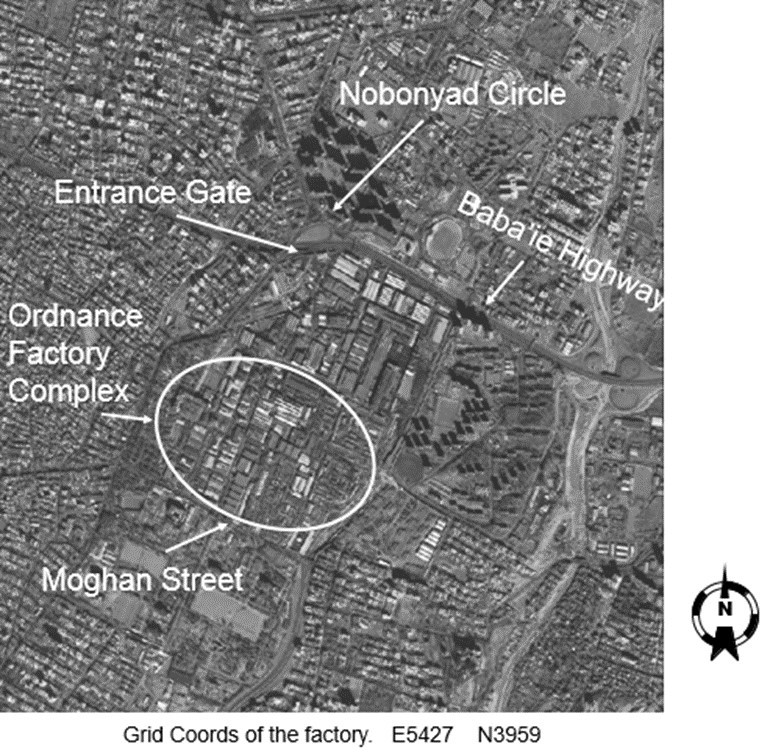 Satellite Images Showing Ordnance Factory Complex