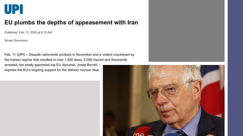 Article by Struan Stevenson on UPI: EU Plumbs the Depths of Appeasement With Iran