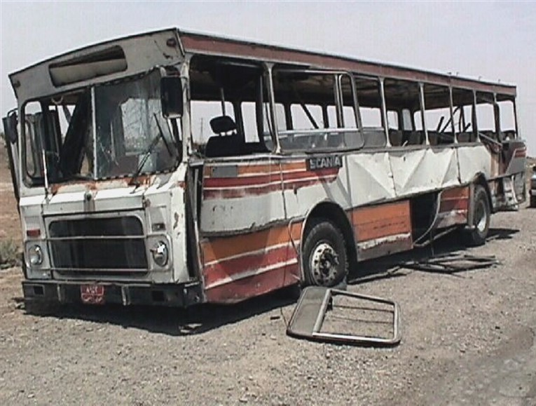 The bus carrying Iraqi citizens