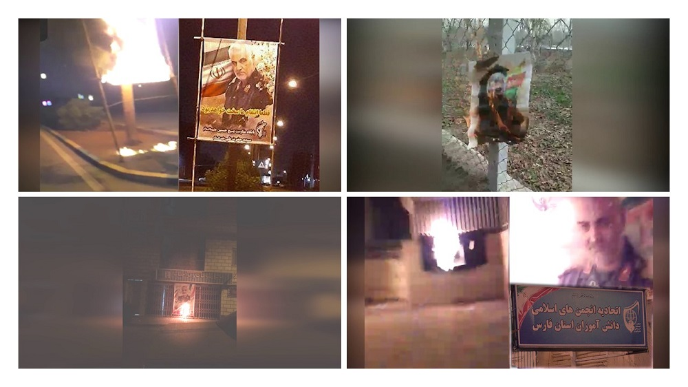 Iran: Torching Pictures of Khamenei, Soleimani in Tehran, Other Cities
