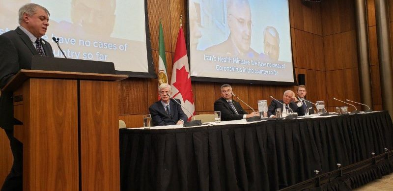 The conference, Iran: Human Rights, uprisings, and West's political options at the Sir. John McDonald's building in the Canadian Parliament