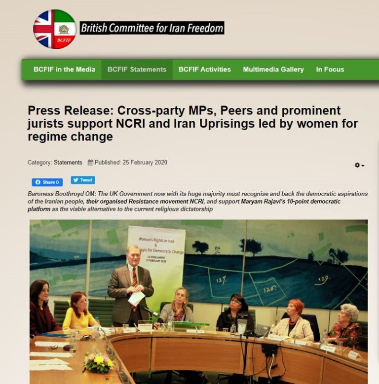 UK Lawmakers Praise Iranian Women's Struggle for Freedom and Equality in Run-Up to International Women's Day