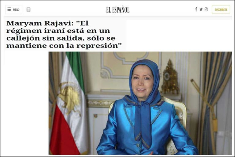 Iran Opposition Leader Maryam Rajavi to El Espanol: From Beirut to Baghdad to Tehran, the Ground Is Shaking Under the Mullahs' Feet