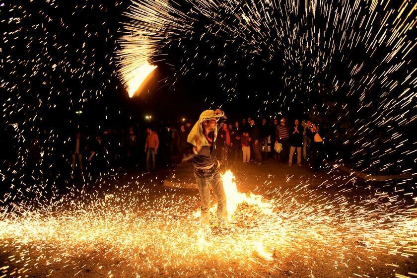 Iran: Defiant youth turned the last Tuesday of the Iranian Year, Chaharshanbe Suri (Festival of Fire), in Tehran and other cities into scenes of protests against the regime.