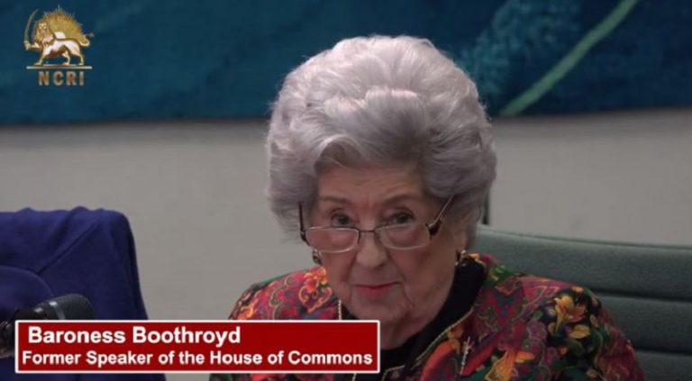 Baroness Betty Boothroyd Speech at the Event Held in UK House of Commons In Solidarity With Iranian Resistance