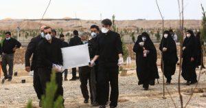 Iran, Qom - Burial of a coronavirus victim