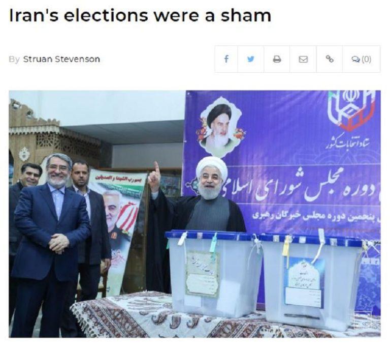 Iran's Elections Were a Sham – Struan Stevenson