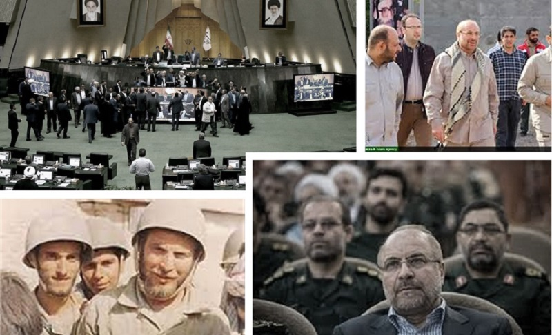 Qalibaf, one of the commanders of the Iranian regime's terrorist IRGC, candidate of the mullahs' parliament speaker