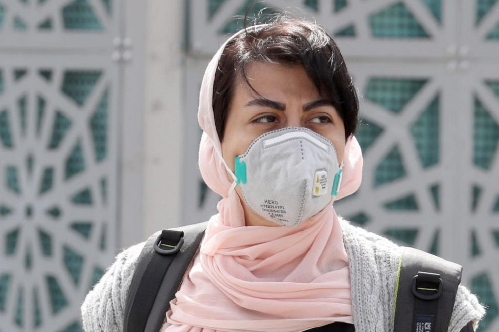 Mr. Struan Stevenson, a former Member of the European Parliament, in an article published on UPI on Wednesday, decried the Iranian regime's lies and deception over the Coronavirus outbreak in Iran. Picture is from his article on UPI- An Iranian woman wearing a face mask walks in Tehran on Monday. Photo by Abedin Taherkenareh/ EPA-EFE