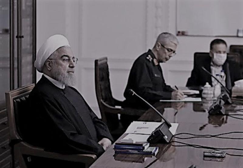 Hassan Rouhani in a meeting of the Iranian Regime's Coronavirus Taskforce