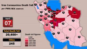 Over 20,400 dead of coronavirus (COVID-19) in Iran-Iran Coronavirus Death Toll per PMOI MEK sources