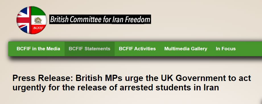 British lawmakers urge the UK to put pressure on Iran's regime to release detained students