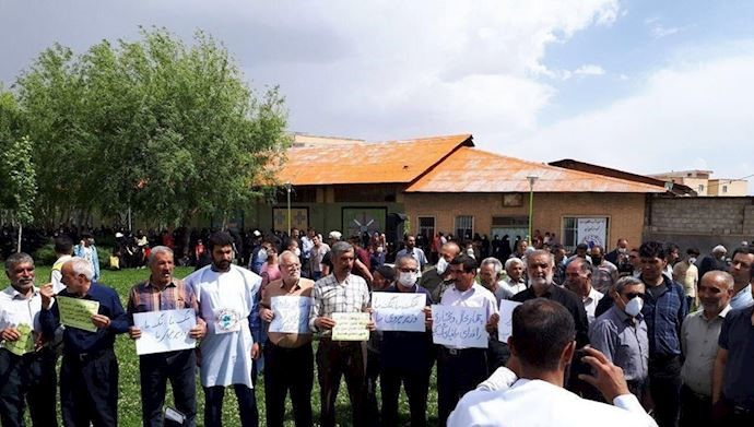 Iran: People, farmers in Farokhshahr stage protest against seizure of agricultural lands, diversion of Karoun River's water
