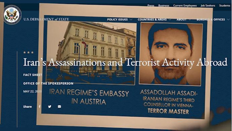 U.S. State Department Publishes Factsheet on Iran Regime's Terrorism