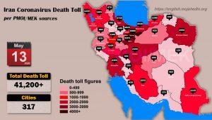 Over 41,200 dead of coronavirus (COVID-19) in Iran-Iran Coronavirus Death Toll