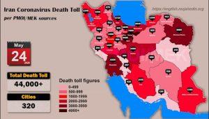 Over 44,000 dead of coronavirus (COVID-19) in Iran
