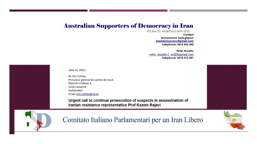 Lawmakers Urge Switzerland to Keep Open File on Assassination of Prof. Kazem Rajavi