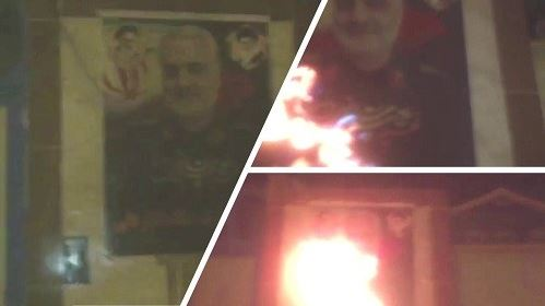 Behbahan- Torching Qassem Soleimani, commander of the terrorist Quds force- June 19, 2020