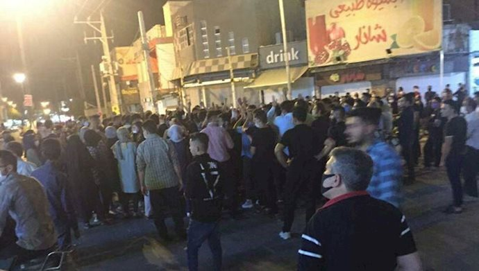 "The uprising of the people of Behbahan with the slogans ""We do not want the mullahs' rule"" and ""The mullahs must get lost"""