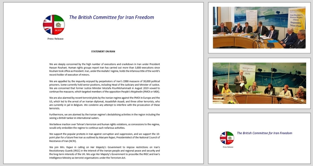 120 UK MPs Condemn Human Rights Violations in Iran and Support Maryam Rajavi and the Iranian Resistance