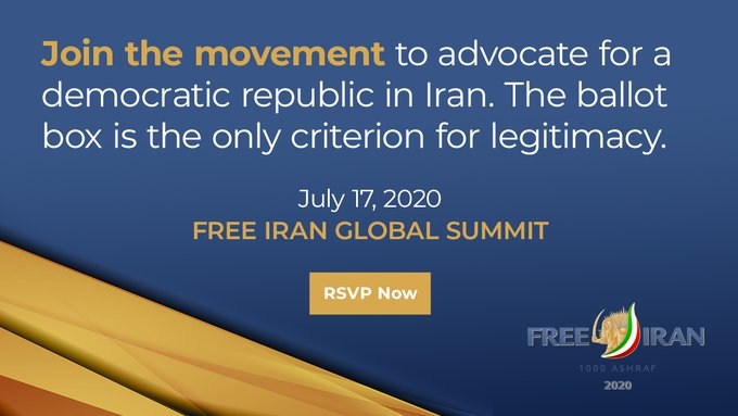 The Largest Ever Online Summit Free Iran, Global Summit, Resistance Units Are the Key to Victory - July 17, 2020