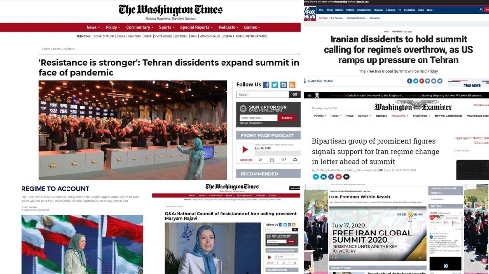 NCRI's Free Iran Global Summit in the Media